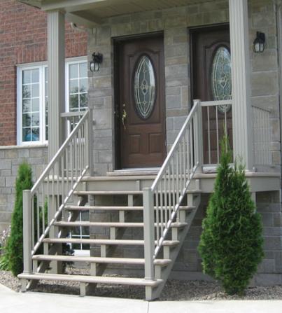 Fiberglass balcons escalier